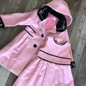 Set of coat and dress